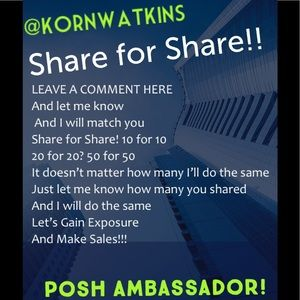 Share for Share! Comment here and Let's share!